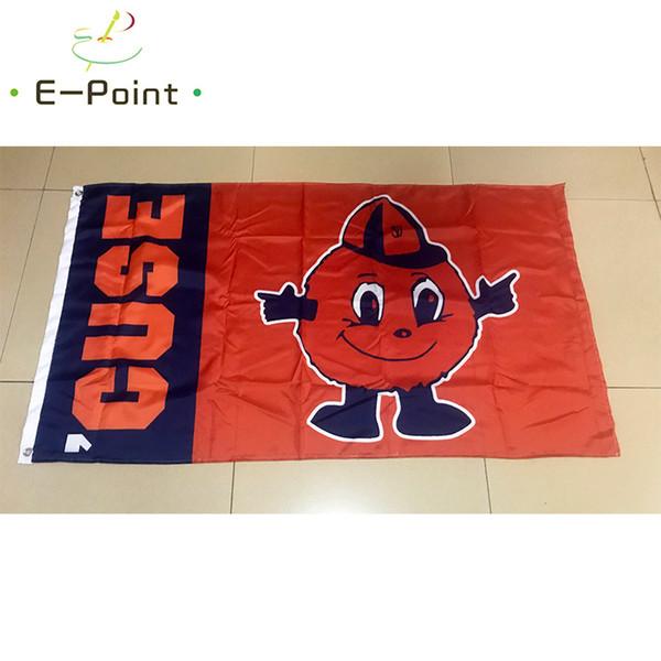 Drapeau de la NCAA Syracuse Orange 3ft * 5ft (150cm * 90cm) Drapeau Bannière décoration voler maison gard