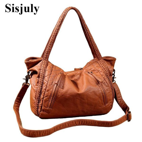 Sisjuly Nice Leather Bag Women Handbags Soft Female Bag Crossbody For Womens Shoulder Bags Lady Casual Tote Hobo Sac A Maine