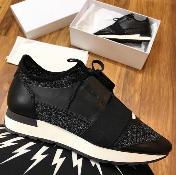 Moda Tasarımcısı Kadın Ayakkabı Adam Rahat Sneaker Yeni Model Deri Mesh Trainer Ayakkabı Yarış sneaker shoes femme Drop Shipping ABD 5-12