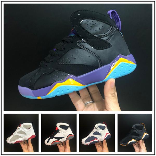 2b8f8df8b7c187 nike air jordan aj7 Menino menina 7 s Infantil tênis de basquete para  crianças branco ouro preto crianças athletic 7 sports sneaker multi cor e  tamanho em ...
