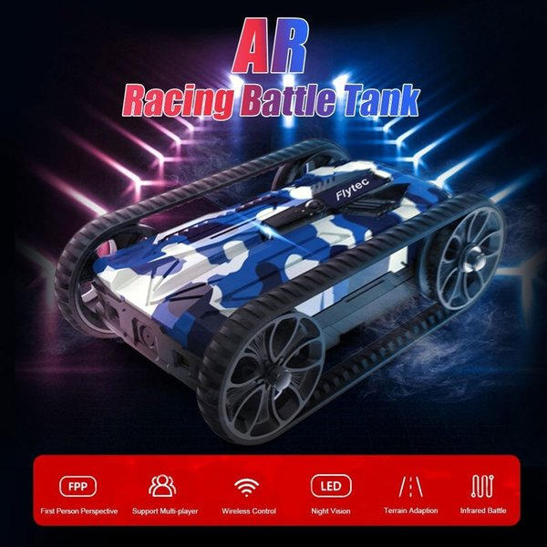 wholesale RC Tank AR Infrared Battle Tanks 480P WiFi FPV Image Transmission App Control Remote Control Toys Crawler Tracked Vehicle