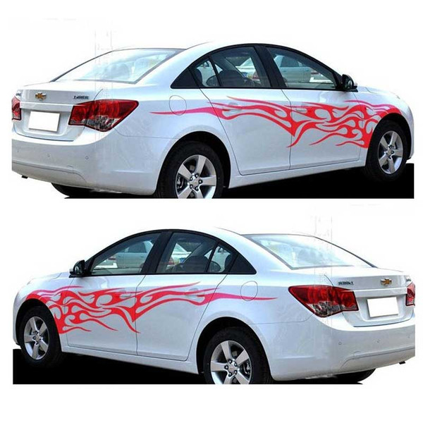2PCS/Set Universal Car Stickers Whole Body Fire Flame Decor Vinyl Decals Car Styling Stickers for Truck Auto