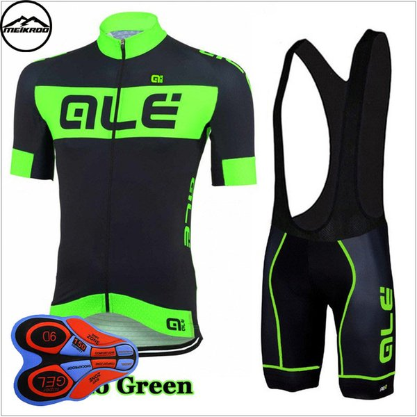 Ale Team Cycling Jersey Bib Shortsshort Sleeve Cycling Set Ropa Ciclismo 2018 Mountain Bike Clothing /Breathable Mans Bicycle Jersey Sports