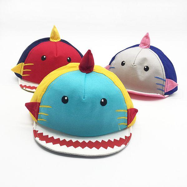 Bebek Köpekbalığı Şapka Yumuşak Saçak Beyzbol Şapkası Oğlan Kız İlkbahar Ve sonbahar Çocuk Chapeau Pamuk Pembe Kırmızı Konfor Güzel 9sl C1