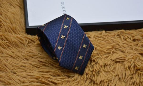 Legami dei mens di marca Uomo Moda Piccola ape Cravatte Hombre Gravata Slim Cravatta Classic Affari banchetto della festa nuziale casuale nero Tie Foroff