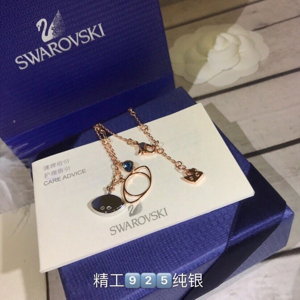 Women's jewelry 2019 fashion new devil's eye necklace of high quality sterling silver material plating thick gold to create at