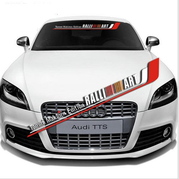 Auto Car Front Rear Windshield Window Banner Vinyl Emblem Decal Exterior Reflective Sticker Custom DIY For Mitsubishi