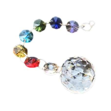 Crystal Lighting Color Crystal Ball Pendant Color Octagonal Beads For Chandelier Hanging Drops/Outdoor Christmas Tree Decoration