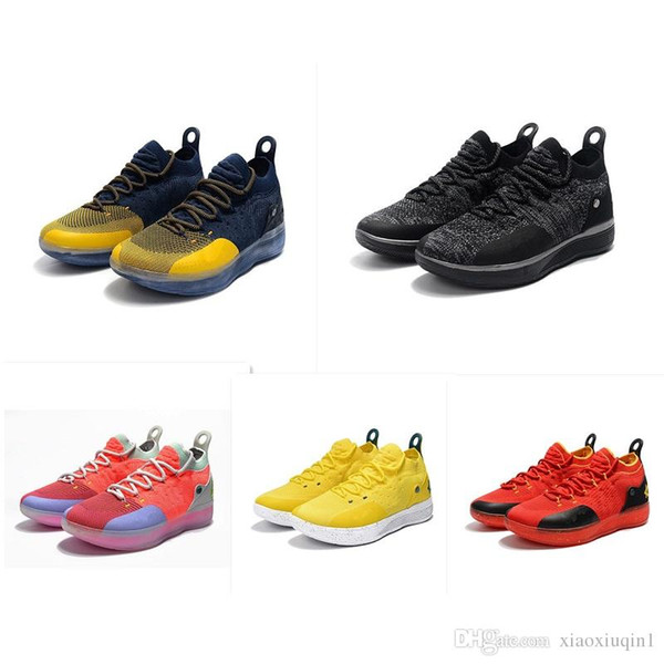 What the KD 11 mens basketball shoes for sale MVP Floral black CityEdition Aunt Pearl Kevin Durant Xi low kids boots with box