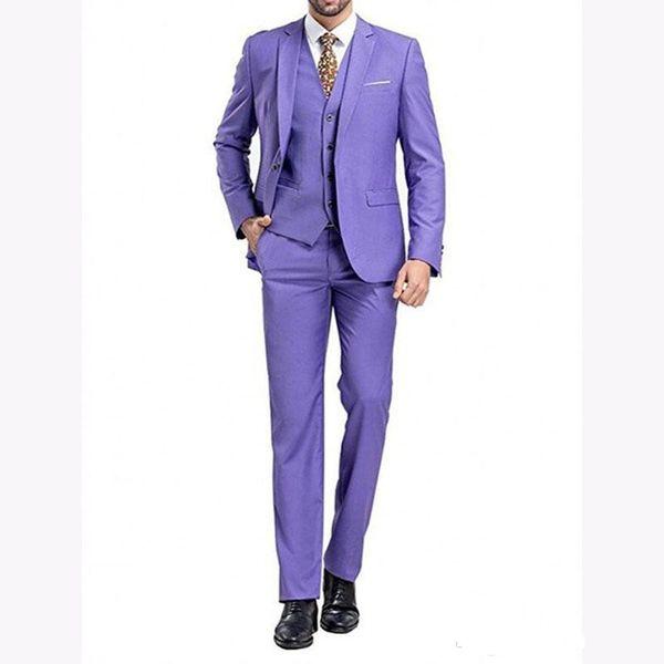 Nuovo arrivo One Button Smoking dello sposo Notch Bavero Groomsmen Mens Wedding Prom Abiti da sposa (Giacca + Pantaloni + Vest + Tie) 645
