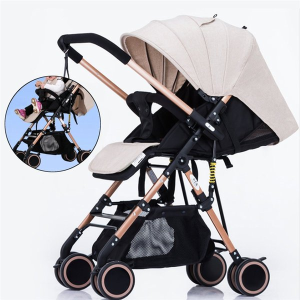 Baby Stroller Reclining Lightweight Folding -Absorbering Portable Push Cart For Four Seasons Use Landscape High Demand