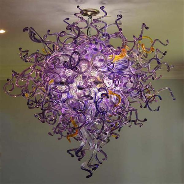 Livraison gratuite vintage cristal Lustre Lustre cristaux de fleur en verre soufflé à la main Lustre traditionnel