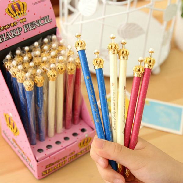 1pcs Kawaii gel pen lovely imperial crown pattern school Office stationery Supplies Black ink 0.38mm Pen refill