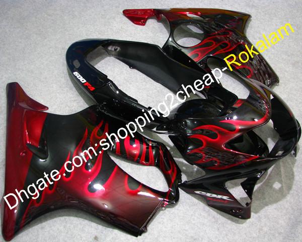 Für Honda Teil CBR600 F4 99 00 CBR 600 1999 2000 CBR600F4 CBRF4 Motorradkarosserie Rote Flamme ABS-Verkleidungskit