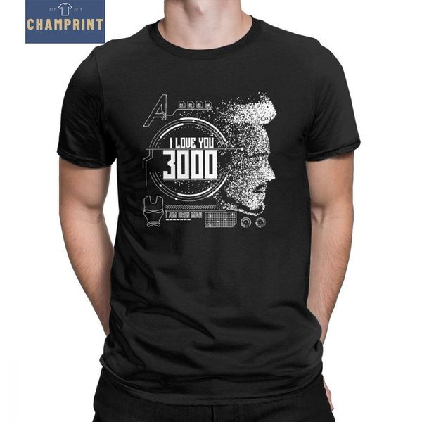 Men I Love You 3000 T Shirt Iron Man T-Shirt Avengers Super Hero Comic Tees Pure Cotton Tops Amazing Short Sleeve Unique