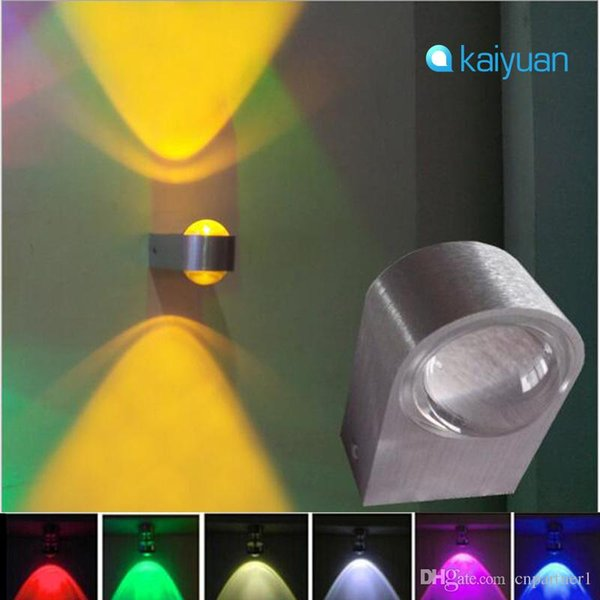 Modern 5 colors LED 2W Wall Sconces Decor Fixture Lights Personality wall lamps corridor sitting room background light Hall Porch lamp