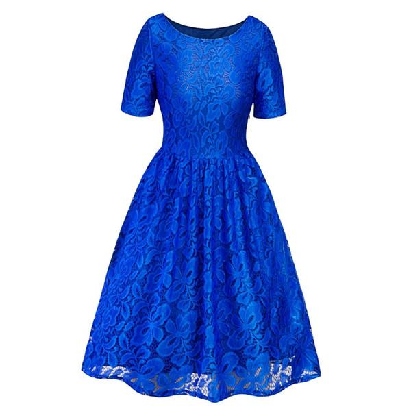 vestido azul real