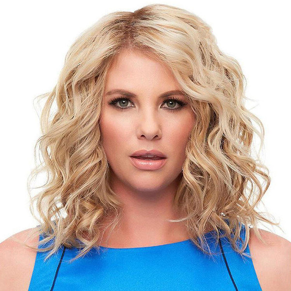 Women's Wigs in Europe and America Hair Wigs Light Blonde Short Curls Wavy Fluffy Medium Long Hair Synthetic Wigs