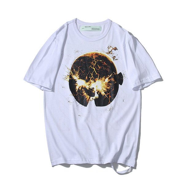 19SS fashion trend men T-shirt designer T-shirt planet explosion printing mens t-shirt hip-hop brand sports short sleeve new store promotion
