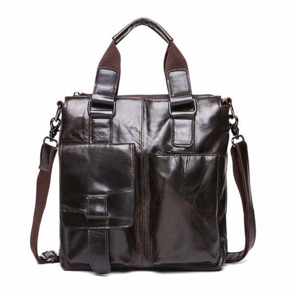 AOTIAN Genuine Leather Messenger Satchel Laptop Briefcasemen's bag briefcase leather office bags for men sacoche homme cuir A30