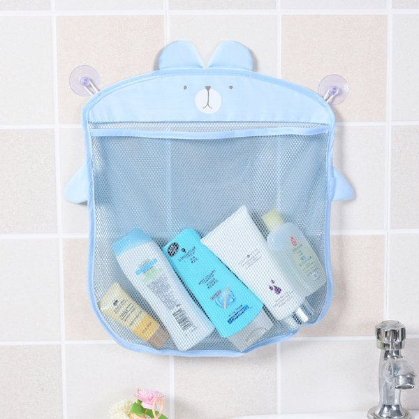 Bathroom Hanging Storage Mesh Bag Cartoon Large Capacity Quick Dry Container Bathtub Toy Holder HK0287