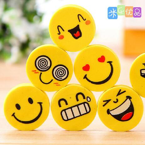 4 pcs/lot Small Stationery Officew16 Rubber Smile Face for w17 Simple Creative Lovely w19n BZNVN 857 Eraser