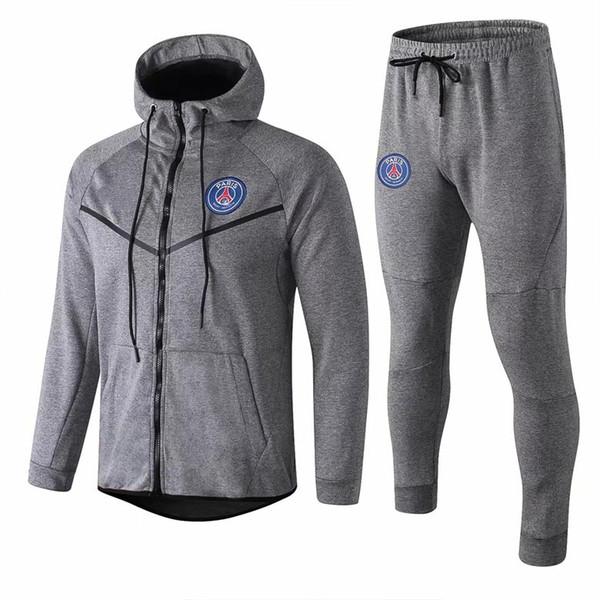 Acheter 19 20 Nouvelles De Taille Survêtement Veste Football Paris Football Hoodies Manteau De Veste Zippée 2019 2020 MBAPPE De Survêtements CAVANI S