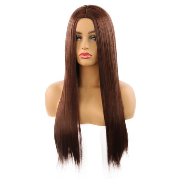 Perruque modèles de rôle explosifs WIG réparation de visage de la mode féminine dans les fabricants de cheveux longs raides vendant