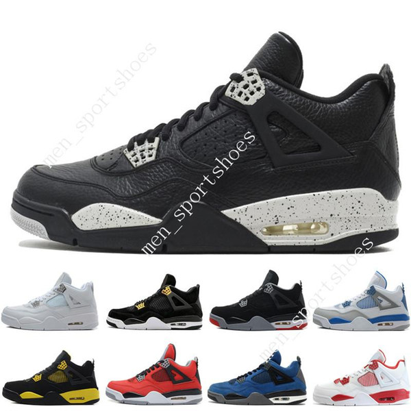 4 4s Mens Basketball Shoes Oreo Fear Pack Royalty Toro Bravo Angry bull Military Blue White Alternate 89 Green Glow Thunder Sports Sneakers
