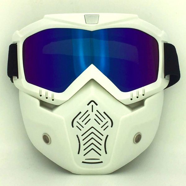 White frame color lens