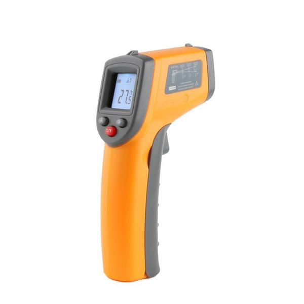 best selling Non Contact Digital Laser Infrared Thermometer -50~360C (-58~680F) Temperature Pyrometer IR Laser Point Gun Tester GS320