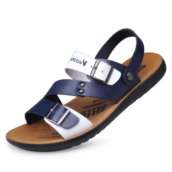 Estate impermeabili MBT Uomo traspirante sandali della spiaggia antiscivolo scarpe di cuoio moda maschile per adulti Outdoor Native
