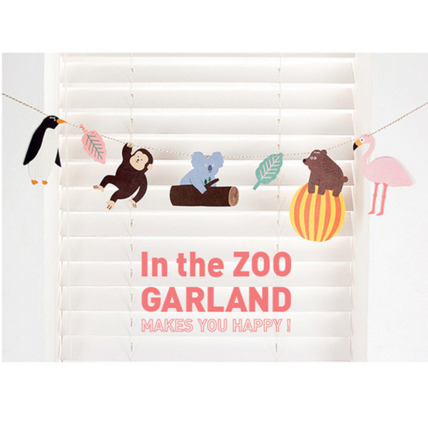 2019 Hot Monkey Hanging Paper Flags Baby Shower Banner Animals Party Hanging Flags Home Decoration Birthday Family Paper decorations