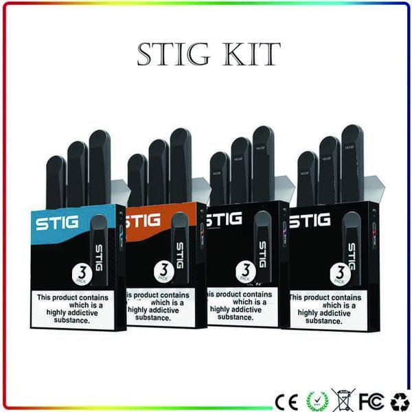 VGOD STIG Disposable Pod Device 270mAh Fully Charged Battery Vape Pen kit 1.2ml Cartridge Empty Disposable Pod Mod E Cigarette 3Pcs/Pack