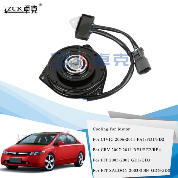 top popular Cooling Fan Motor For HONDA FIT 05-08 GD1 GD3 FIT SALOON 03-06 GD6 GD8 Civic 2006-2011 FA1 CRV 07-11 RE1 2 4 OEM:38616-PWA-J01 2021