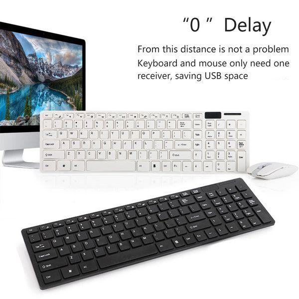 Teclado sem fio 2.4G Mouse Set Wireless Optical Mouse 1600dpi Keyboard Movie Set para Laptop PC EM88