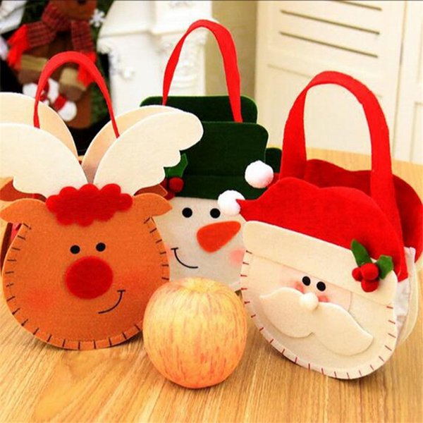 Navidad 2018 New Year Christmas Gift Three-Dimensional Gift Candy Bags Christmas Decorations for Home Party Decoration Natal.Q