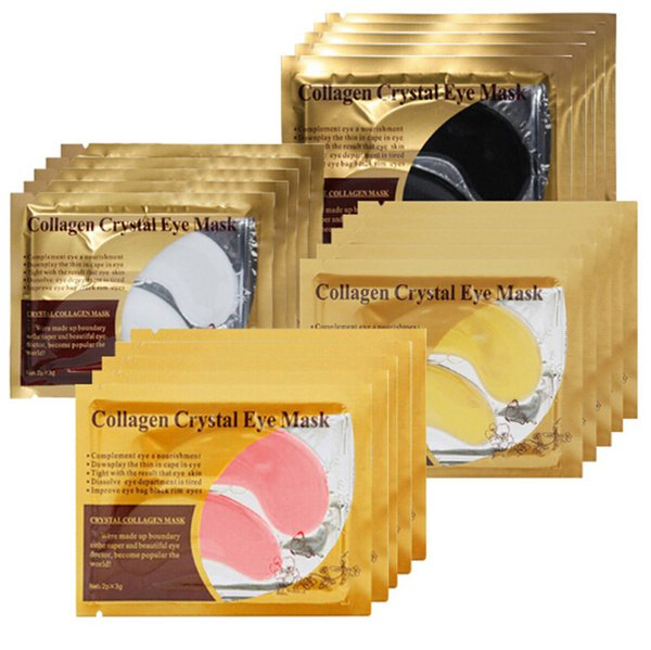 top popular Top seller white Golden Eye Mask Women Crystal Eyelid Patch   Crystal Collagen Eye Mask Gold Mask Dark Circle DHL free ship 2020