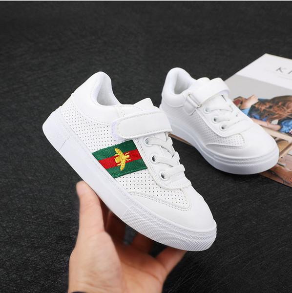 Großhandel Mädchen Herbst Schuhe 2018 Neue Beiläufige Atmungsaktive Kinderschuhe Männer Weiße Schuhe Jungen Leinwand Wild Board Flut Von Amituofo778,