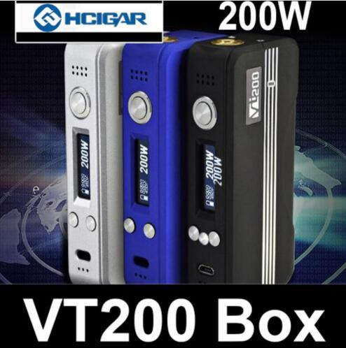 100% Authentic HCIGAR VT200 TC Box Mod with DNA 200 chip VT 200 Mods Temp Control vs sx mini mi G class stick v8 qc dual mods 100% original