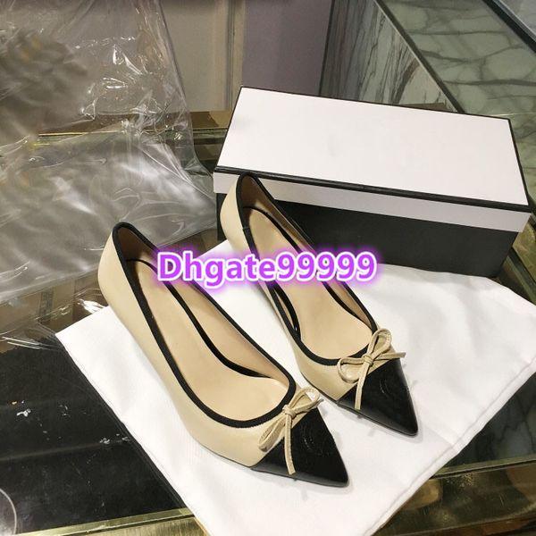 women slip-on pointed pump kitten heels sandals sexy office party dress shoes patchwork bowtie high heel shoe luxury girl mid-heel pumps