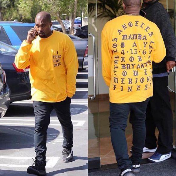 Camiseta Me siento como Kobe Camiseta Hombres Kobe Retire Mamba conmemorativa Camiseta Hip Hop Camisetas deportivas Tops Kanye West