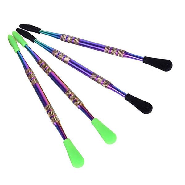 e cig Cire atomiseur vaporisateur stylo Or Dab en céramique ongles dabber outil coloré outil sec herbe vaporisateur outil pack par tube en plastique transparent
