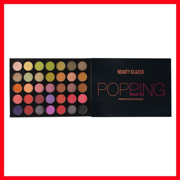 2019 Célèbre maquillage pour les yeux beauté palette de fard à paupières glacé palette de palette d'ombre à paupières 35 couleurs livraison gratuite