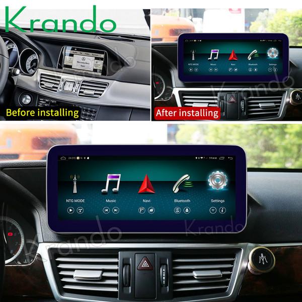 Krando Android 8.1 10.25'' car radio gps navigation for Mercedes Benz E Class W212 E200 E230 E260 E300 S212 2015-2016 car dvd