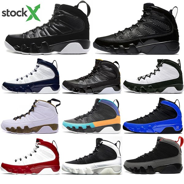 luxury 9 Gym Red Racer Blue Bred Dream It Do It UNC Space Jam Chameleon Basketball Shoes Men 9s Cool Grey Anthracite Sneakers