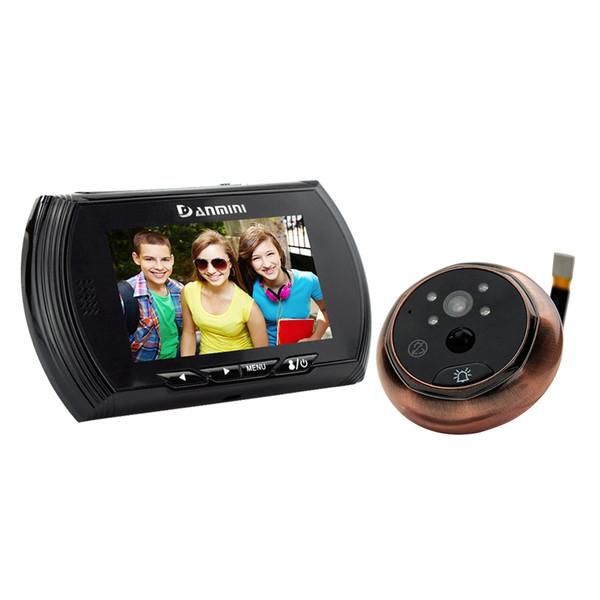 Danmini Smart Digital Door Viewer Peephole Camera con PIR Motion Detection Visione notturna Funzione DND Schermo a colori HD da 4,3 pollici