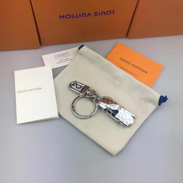 2019 original box high quality luxury silver car key chain designer wallet pendant bag fashion free shipping