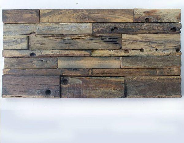 30x60 CM mosaico de madeira Natural NWMT027 backsplash telhas de cozinha 3D padrão de mosaico de madeira da telha da parede