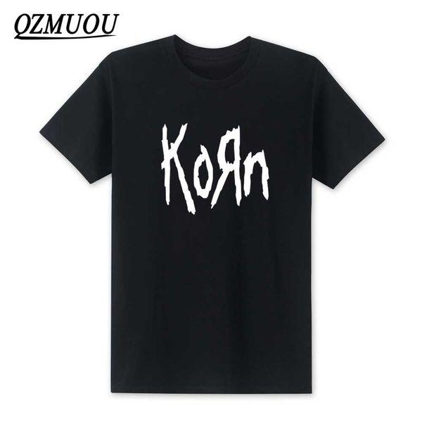 Nouveau mode 2019 Korn Metal Rock Logo Graphic T-shirt Hip Hop Hommes T-shirts en coton O manches courtes T-shirt XS-XXL